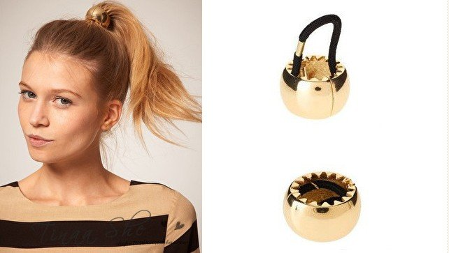 Hair-Jewelry-New-Punk-Metal-Circle-Hair-Cuff-font-b-Wrap-b-font-Ponytail-font-b